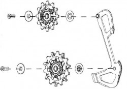 Kladky pro přehazovačku GX Eagle (v balení kladky+ vnitřní vodítko)
