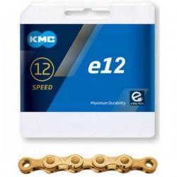 Řetěz KMC 12e E-bike se spojkou, gold 130čl.