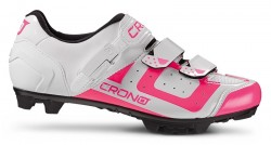 Tretry Crono MTB CX3 Nylon White Pink