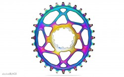 Absolute Black Sram OVAL rainbow 3mm (BOOST)