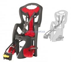 Bellelli zadní sedačka PEPE STANDARD (šedo/červená)