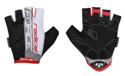 FORCE RADICAL rukavice, černo-bílo-červené