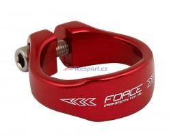 Force sedlová objímka imbusová RÚ 31,8 Alu (červená)