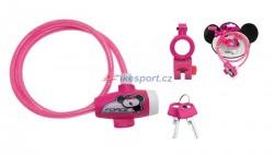 Force zámek - dětský, 80cm/8mm, růžový