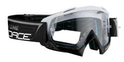 Brýle FORCE GRIME sjezdové bílo-červené, čiré sklo