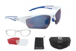 Force brýle RIDE - bílo/modré s klipem