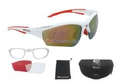 Force brýle RIDE - bílo/červené s klipem