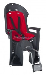 Hamax zadní sedačka SMILEY (tmavě šedá/červená)