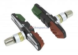 Force brzdové špalky CNC - výměnné 3-barevné (zel./černo/hnědá)
