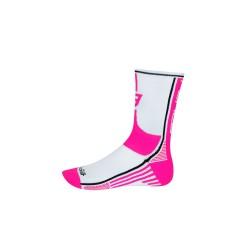 FORCE LONG PLUS ponožky, růžovo-černo-bílé