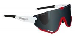 Brýle FORCE CREED bílo-červené, černá zrc. skla