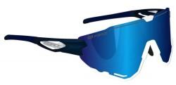 Brýle FORCE CREED modro-bílé, modrá zrc. skla