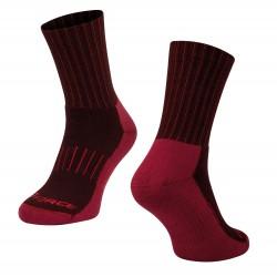 Ponožky FORCE ARCTIC, bordó-červené L-XL/42-47
