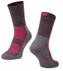 Ponožky FORCE POLAR, šedo-růžové