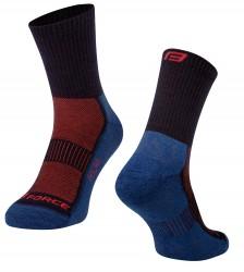 Ponožky FORCE POLAR, modro-červené