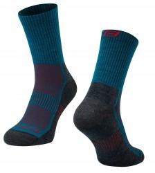 Ponožky FORCE POLAR, tyrkysovo-červené L-XL/42-47