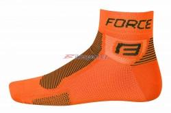FORCE ponožky 1 (oranžová fluo-černé)