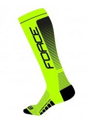 Ponožky Force COMPRESS, fluo-černé