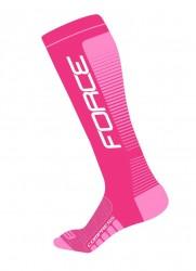 Ponožky Force COMPRESS, růžové