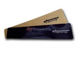 Shaman - ochranná nálepka pod řetěz (velká - carbon)