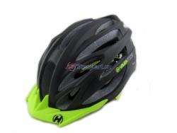 Haven TOLTEC black - přilba černá, zelený štítek