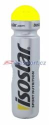 Isostar lahev 1L stříbrná / žlutá NEW (klobouček)