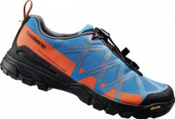 Shimano boty MT54 modro/oranžové