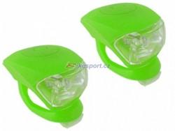 4RACE sada blikaček přední+zadní silicon (zelená)