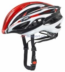 UVEX přilba Race 1, barva červeno/bílá