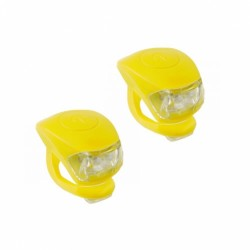 4RACE sada blikaček přední+zadní silicon (žlutá)