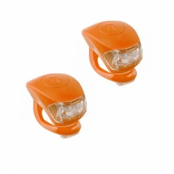 4RACE sada blikaček přední+zadní silicon (oranžová)