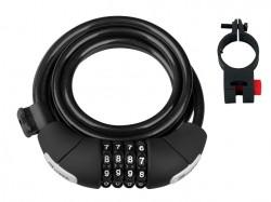 Force zámek LUX spirálový , kódový 180cm/8mm