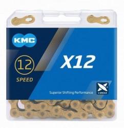 Řetěz KMC X-12 zlatý , 126čl.
