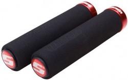 SRAM Locking gripy pěnové, 129mm s červeno objímkou