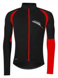 FORCE ZORO bunda/dres dlouhý rukáv, černo-červená