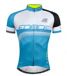 FORCE LUX dres krátký rukáv, modro-černo-bílý