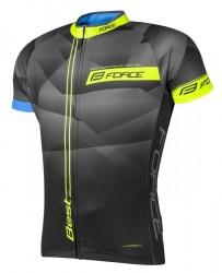 FORCE BEST dres krátký rukáv, černo-fluo