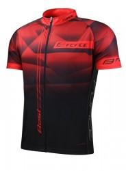 FORCE BEST dres krátký rukáv, červeno-černý