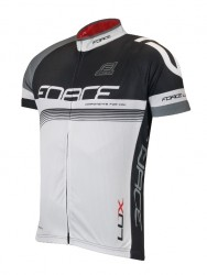 FORCE LUX dres krátký rukáv černo-bílý