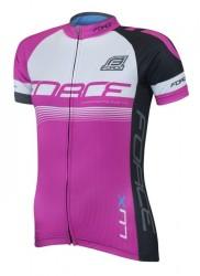 FORCE LUX dámský dres krátký rukáv, růžový