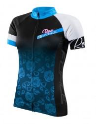 FORCE ROSE dres dámský kr. rukáv, černo-modrý
