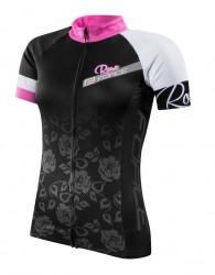 FORCE ROSE dres dámský kr. rukáv, černo-růžový