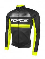 FORCE DRIFT Wind dres dlouhý rukáv, černý