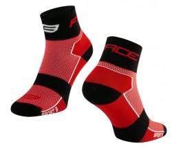 FORCE SPORT 3 ponožky, červeno-černé