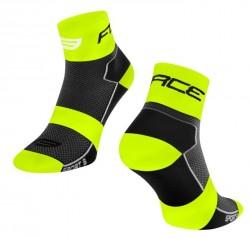 FORCE SPORT 3 ponožky, černo-fluo