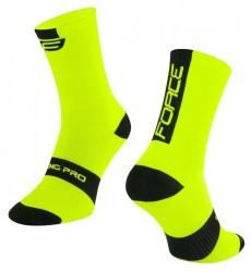 FORCE LONG PRO ponožky, fluo-černé