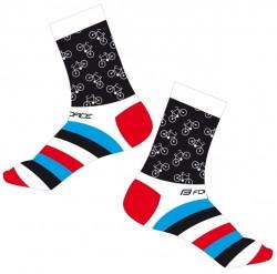 FORCE CYCLE ponožky, bílé