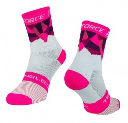 FORCE TRIANGLE ponožky bílo-růžové
