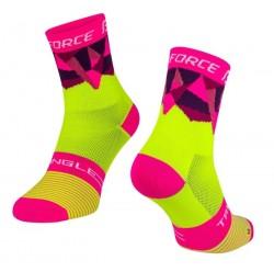 FORCE TRIANGLE ponožky fluo-růžové