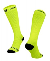 FORCE ATHLETIC KOMPRESNÍ ponožky, fluo